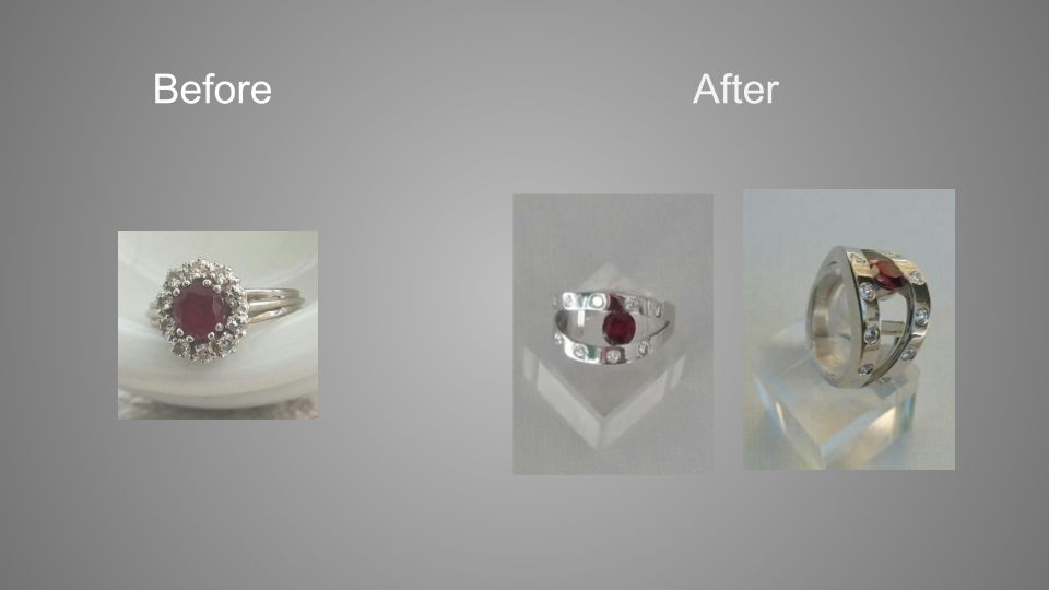 Remodelled modern ring