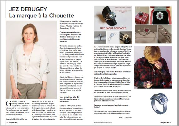 Article sur Jez Debugey dans Glamour Fashion and Beauty